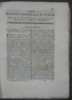 1789 'NUOVO GIORNALE D'ITALIA': AGRICOLTURA IN DALMAZIA, MALATTIE DEL FRUMENTO