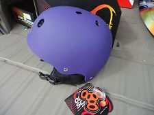 NWT TRIPLE EIGHT OLD SCHOOL AUDIO HELMET SNOW SNOWBOARD SKI PURPLE RUBBER SM 67