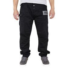 New Mens Cuffed Regular Fit Denim Fashion Joggers Jeans Big King Sizes