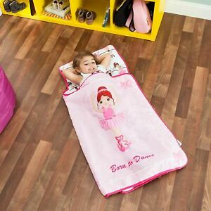 EVERYDAY KIDS Toddler Nap Mat with Removable Pillow -Born to Dance Ballerina- Ca