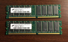 Micron 1GB RAM Kit 2 x 512MB DDR PC2700 333MHz CL2.5 DIMMs MT16VDDT6464AG-335G4
