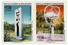 Chile 1996 #1818-1819 Escultores CHilenos MNH