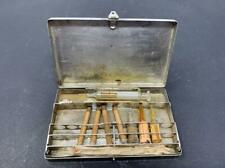Antique 1930,s Burroughs Wellcome & Co Hypodermic Case No.62, & unusual syringe