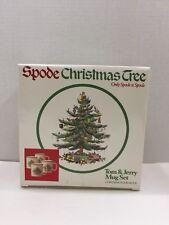 Spode Christmas Tree Tom & Jerry Mug Set of 4 in Original Box Made in England