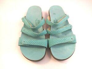 **SAS Tripad Comfort Womens Size 9 Aqua Blue Slide Sandals Hook & Loop