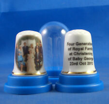 Birchcroft China Thimble -- Four Generations of Royal Family at Christening