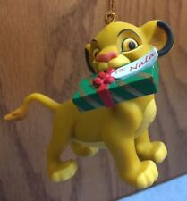 Disney Grolier Presidents Edition Simba With Gift Christmas Ornament