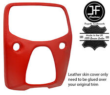 RED TOP GRAIN LEATHER CENTRE DASH TRIM COVER FOR TOYOTA AYGO 2014-2019