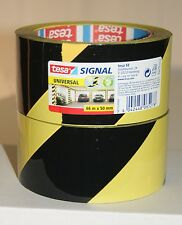 (7,99€/Eh) 1 Rolle Tesa 58133 Warnklebeband schwarz-gelb, Klebeband, Signalband