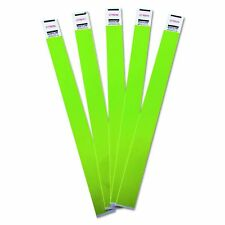 Advantus Crowd Management Tyvek Wristbands, Sequentially Numbered, Green, Pack