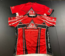 Primal Mens Red Rider American  Diabetes 3/4 Zip Up Cycling Jersey 2XL Lot Of 2
