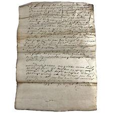 1736 Europe Document Government Legal Paper Record Authentic Manuscript Antique