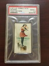 N187 W.S. Kimball Fancy Bathers 'Ostende'   graded PSA 2.5 Good+