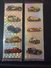 "2 Vintage ""Vintage Cars"" Foil Stickers"