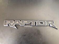 """Ford Genuine OEM F-150 """"Raptor"""" Tailgate Emblem No Applique HL3Z-9942528-AB"""