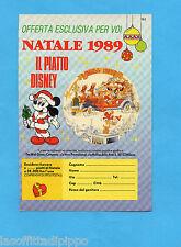 TOP989-PUBBLICITA'/ADVERTISING-1989- TOPOLINO-PIATTO DI NATALE 1989 G.SCALA (B)