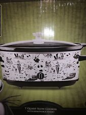 Disney Nightmare Before Christmas 7 Quart Slow Cooker Crock Pot Characters White