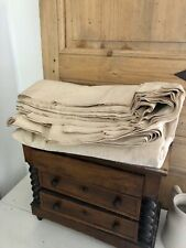 6,5 y antique French rustic HEAVY METIS fabric cut LOT UPHOLSTERY c1900