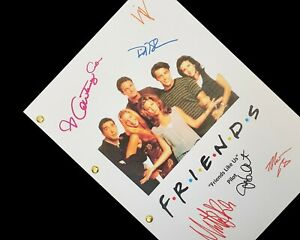 Friends TV Script Pilot Signatures Autograph Reprint Aniston Cox Le Blanc Kudrow