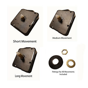 Replacement Quartz Clock movement mechanism with fittings and Hand option