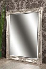 Spiegel Wandspiegel CELIA antik silber Barock 70 x 90 cm