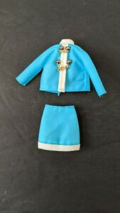 Vintage Topper Dawn Doll #727 Chain 'er Up Blue Jacket and Skirt Nice