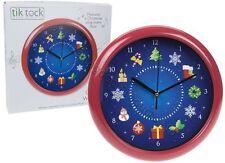 "10"" Novelty Musical Christmas Wall Clock Sing a Long Xmas 12 Songs Festive Music"