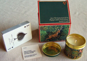 """Vntg 1981 Avon/Men Tapestry Coll. """"GAMESMAN"""" Playing Cards, Smokers Candle -NEW!"""