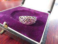 Wundervoller 925 Silber Ring Unisex Mystisch Durchbrucharbeit Natur Keltisch Top