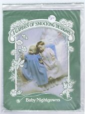 A Garden Of Smocking Designs Baby Nightgowns-Heirloom nightgown pattern-New