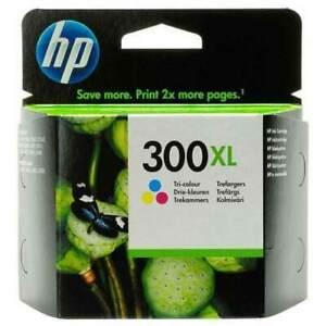 GENUINE HP 300XL tri colour printer ink cartridge. Boxed.