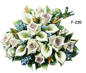 Bouquet con rose e calle - Capodimonte Porcellane Carusio