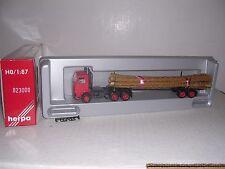HERPA #823000  Scania 10 Wheel Cab w/Log Trailor & Logs  Red H.O.Gauge