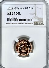 More details for 2021 gold half sovereign ngc ms69 dpl britain royal mint