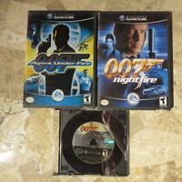 007 AGENT UNDER FIRE + NIGHTFIRE + EVERYTHING NOTHING✨Nintendo Gamecube✨Complete