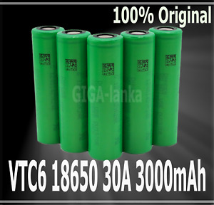 Original VTC6 3.7V 3000mAh 30A High Discharge Rechargeable Li-ion Battery 1-10ps
