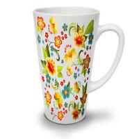 Cute Flower NEW White Tea Coffee Latte Mug 12 17 oz | Wellcoda