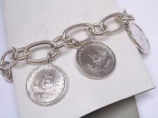 Bracciale in Argento 925 con 3 monete da 500 lire in Argento - 3 Caravelle -