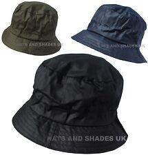 Wax Bush Hat Bucket Shower proof Rain Winter Black Navy Green Mens Ladies  Womens 1f5444c2a50