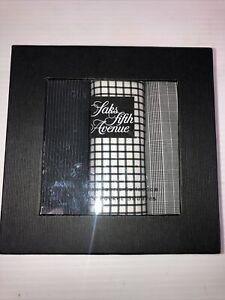 Saks Fifth Avenue 3 Mens Pocket Squares In Black/White Silk