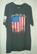 Grunt Style NWOT Army Veteran Made USA Flag Sm Land Of The Free T Shirt Marines