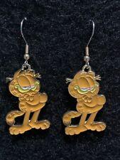 GARFIELD Earrings Stainless Hook New Cartoon Orange Cat Lasagne Loving (B)