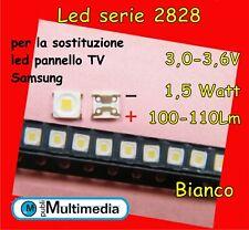 10 Led 2828 per retroilluminazione TV Samsung 1,5W 3V 100-110LM