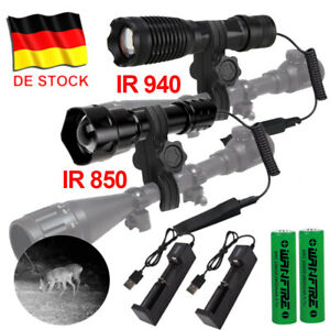 Laser Infrarot 10W IR 850nm/940nm LED Taschenlampe Jagdlicht Nachtsicht Fackel