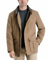 London Fog Mens Jacket Brown Size Small S Clermont Barn Faux Leather $225 005