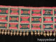 Vintage Indian Banjara Gypsy Tribal Textile Hip Belt Pink Blue White Silver $45