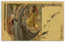 """A. HOHENSTEIN. SéRIE  """"Les IRIS """"  ART NOUVEAU. 1899"""