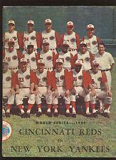1961 World Series Program New York Yankees at Cincinnati Reds VGEX