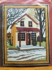 "Vintage Pauline Denham Crewel Embroidery Kit #6058 Country Store 9 x 12"" Sealed"
