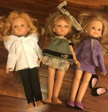 """Paola Reina Lot Of 3 12.5"""" Dolls Made in Spain Rare"""